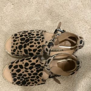 Leopard espadrilles 7.5